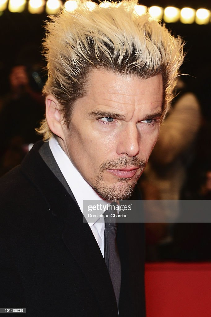 Actor <a gi-track='captionPersonalityLinkClicked' href=/galleries/search?phrase=Ethan+Hawke&family=editorial&specificpeople=178274 ng-click='$event.stopPropagation()'>Ethan Hawke</a> attends the 'Before Midnight' Premiere during the 63rd Berlinale International Film Festival at the Berlinale Palast on February 11, 2013 in Berlin, Germany.