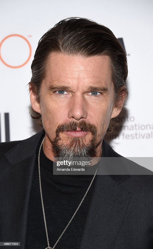 Actor <a gi-track='captionPersonalityLinkClicked' href=/galleries/search?phrase=Ethan+Hawke&family=editorial&specificpeople=178274 ng-click='$event.stopPropagation()'>Ethan Hawke</a> attends the 'Born to Be Blue' premiere during the 2015 Toronto International Film Festival at the Winter Garden Theatre on September 13, 2015 in Toronto, Canada.