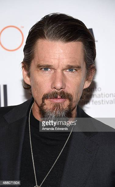 Actor Ethan Hawke attends the 'Born to Be Blue' premiere during the 2015 Toronto International Film Festival at the Winter Garden Theatre on...