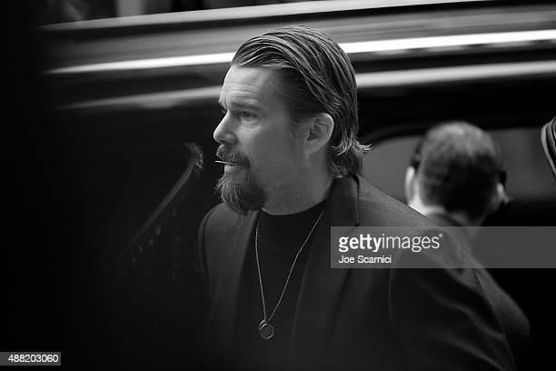 Actor Ethan Hawke attends the 'Born to Be Blue' premiere during the 2015 Toronto International Film Festival at Elgin Theatre on September 13 2015 in...