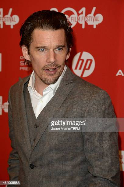 Actor Ethan Hawke attends the 'Boyhood' premiere at Eccles Center Theatre during the 2014 Sundance Film Festival on January 19 2014 in Park City Utah