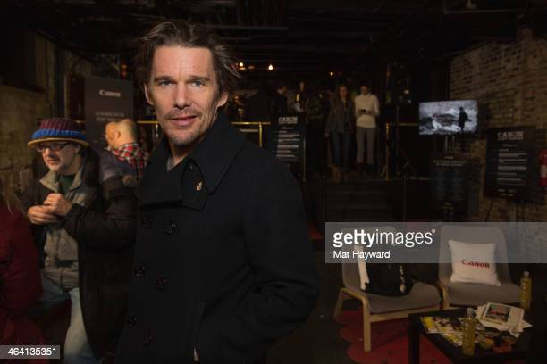 Actor Ethan Hawke attends the Canon Craft Services Lounge during the Sundance Film Festival on January 20 2014 in Park City Utah