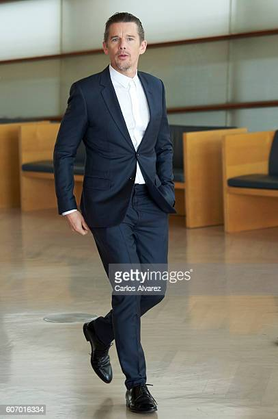 Actor Ethan Hawke attends 'The Magnificent Seven' photocall during 64th San Sebastian International Film Festival at Kursaal on September 17 2016 in...
