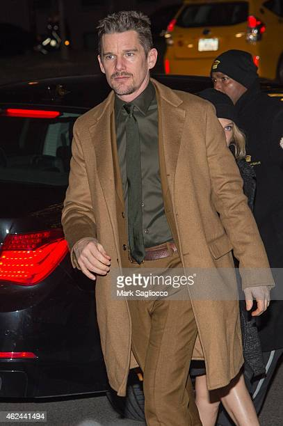 Actor Ethan Hawke attends the Museum of the Moving Image Honoring Julianne Moore on January 20 2015 in New York City