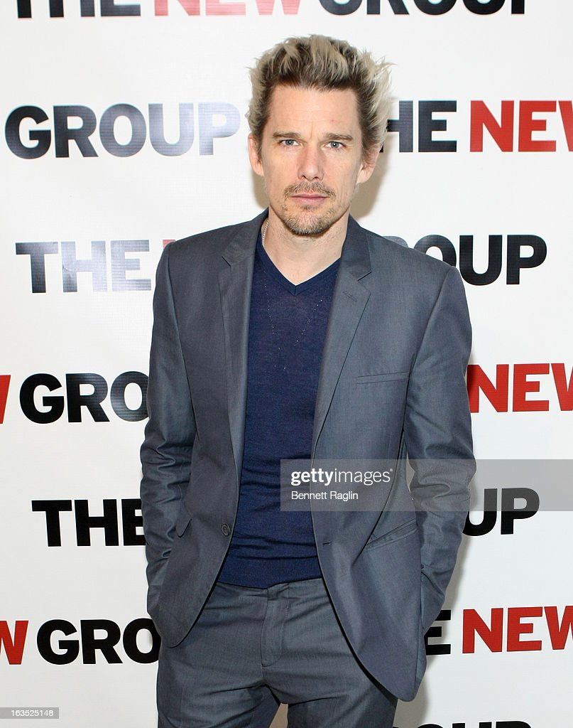 Actor <a gi-track='captionPersonalityLinkClicked' href=/galleries/search?phrase=Ethan+Hawke&family=editorial&specificpeople=178274 ng-click='$event.stopPropagation()'>Ethan Hawke</a> attends The New Group Bright Lights Off-Broadway 2013 Gala at Tribeca Rooftop on March 11, 2013 in New York City.