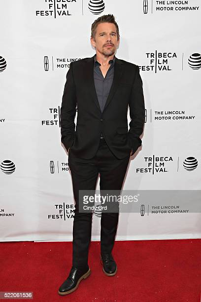 Actor Ethan Hawke attends 'The Phenom' Premiere during the 2016 Tribeca Film Festival at SVA Theatre 1 on April 17 2016 in New York City