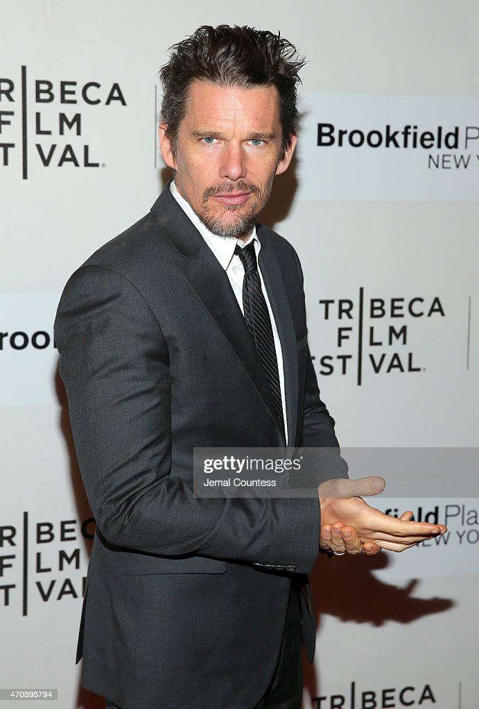 Actor <a gi-track='captionPersonalityLinkClicked' href=/galleries/search?phrase=Ethan+Hawke&family=editorial&specificpeople=178274 ng-click='$event.stopPropagation()'>Ethan Hawke</a> attends the premiere of 'Good Kill' during the 2015 Tribeca Film Festival at BMCC Tribeca PAC on April 19, 2015 in New York City.