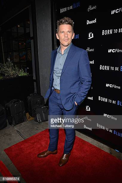 Actor Ethan Hawke attends the premiere of IFC Films' 'Born To Be Blue' at the Regent Theater on March 21 2016 in Los Angeles California