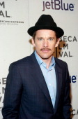 Actor Ethan Hawke attends the screening of 'Before Midnight' during the 2013 Tribeca Film Festival at BMCC Tribeca PAC on April 22 2013 in New York...