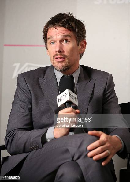 Actor Ethan Hawke attends the Variety Studio presented by Moroccanoil at Holt Renfrew during the 2014 Toronto International Film Festival on...
