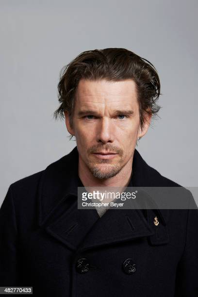 Actor Ethan Hawke is photographed for Entertainment Weekly Magazine on January 25 2014 in Park City Utah