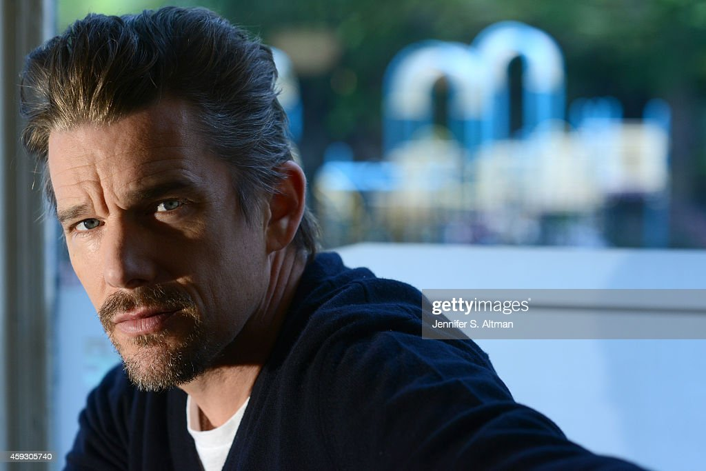 Actor <a gi-track='captionPersonalityLinkClicked' href=/galleries/search?phrase=Ethan+Hawke&family=editorial&specificpeople=178274 ng-click='$event.stopPropagation()'>Ethan Hawke</a> is photographed for Los Angeles Times on October 10, 2014 in Brooklyn, New York. PUBLISHED