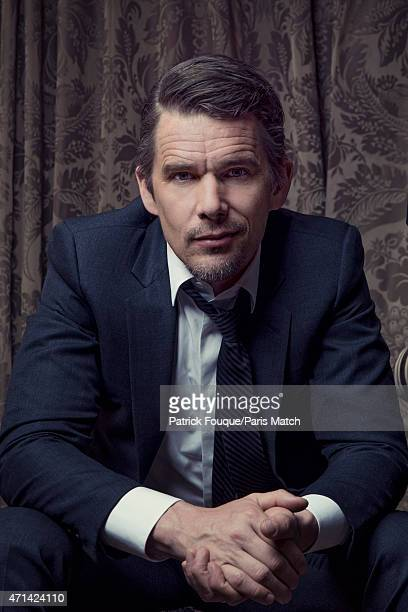 Actor Ethan Hawke is photographed for Paris Match on April 1 2015 in Paris France