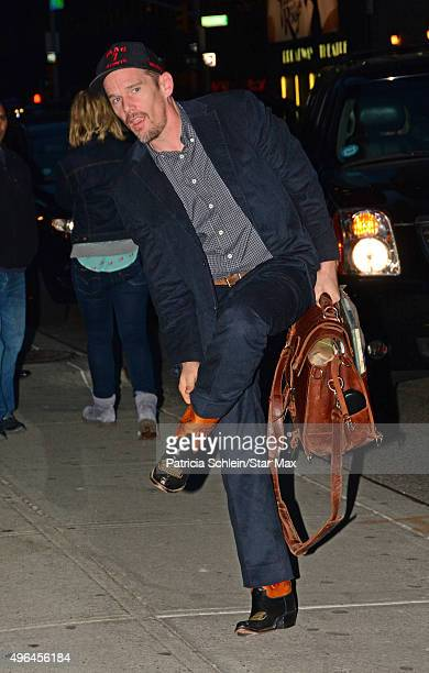 Actor Ethan Hawke is seen on November 9 2015 in New York City