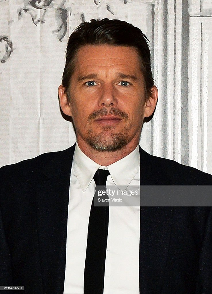 Actor <a gi-track='captionPersonalityLinkClicked' href=/galleries/search?phrase=Ethan+Hawke&family=editorial&specificpeople=178274 ng-click='$event.stopPropagation()'>Ethan Hawke</a> visits AOL Build to talk about his new movie ''Maggies Plan' at AOL Studios In New York on May 5, 2016 in New York City.