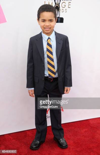 Actor Ethan Hutchison arrives at the 48th NAACP Image Awards at Pasadena Civic Auditorium on February 11 2017 in Pasadena California