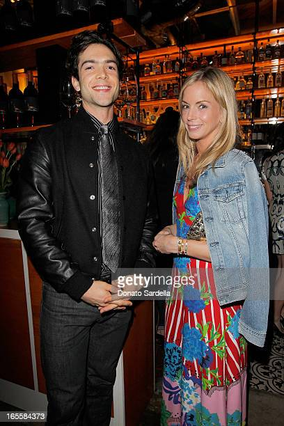 Actor Ethan Peck and Vogue Senior Market Editor Meredith Melling Burke attend Vogue's 'Triple Threats' dinner hosted by Sally Singer and Lisa Love at...