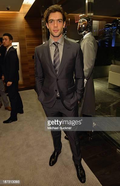 Actor Ethan Peck attends Ermenegildo Zegna Global Store Opening hosted by Gildo Zegna and Stefano Pilati at Ermenegildo Zegna Boutique on November 7...