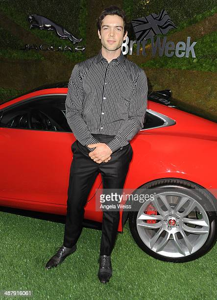 Actor Ethan Peck attends the Jaguar and BritWeek Event A Villainous Affair with the new British villain in town the 2015 FTYPE Coupe at The London...