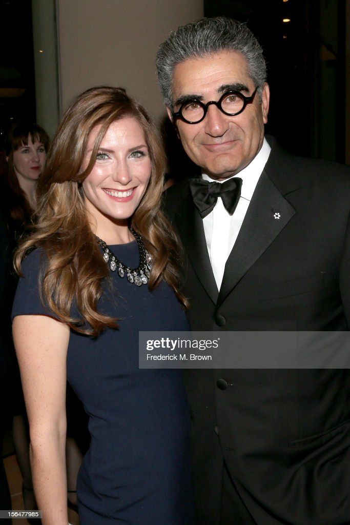 Actor <a gi-track='captionPersonalityLinkClicked' href=/galleries/search?phrase=Eugene+Levy&family=editorial&specificpeople=215201 ng-click='$event.stopPropagation()'>Eugene Levy</a> and Cinematographer Sarah Levy attend the 26th American Cinematheque Award Gala honoring Ben Stiller at The Beverly Hilton Hotel on November 15, 2012 in Beverly Hills, California.
