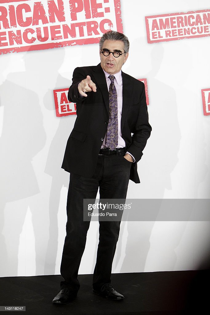 Actor Eugene Levy attend 'American Pie: Reunion' (American Pie: El Reencuentro) photocall at Villamagna Hotel on April 19, 2012 in Madrid, Spain.