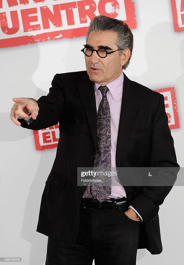 Actor <a gi-track='captionPersonalityLinkClicked' href=/galleries/search?phrase=Eugene+Levy&family=editorial&specificpeople=215201 ng-click='$event.stopPropagation()'>Eugene Levy</a> attends a photocall for 'American Pie: Reunion' (American Pie: El Reencuentro) at the Villamagna Hotel on April 19, 2012 in Madrid, Spain.