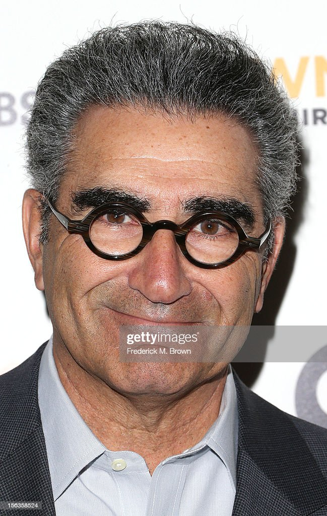Actor <a gi-track='captionPersonalityLinkClicked' href=/galleries/search?phrase=Eugene+Levy&family=editorial&specificpeople=215201 ng-click='$event.stopPropagation()'>Eugene Levy</a> attends the Premiere Of 'American Masters Inventing David Geffen' at The Writers Guild of America on November 13, 2012 in Beverly Hills, California.