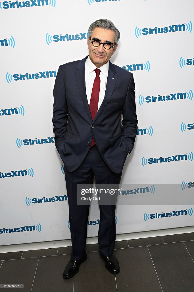 Actor Eugene Levy visits the SiriusXM Studios on March 15, 2016 in New York City.