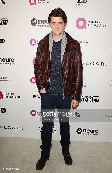 Actor Eugene Simon attends the 24th annual Elton John AIDS Foundation's Oscar viewing party on February 28 2016 in West Hollywood California