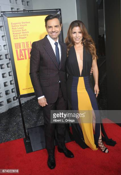 Actor Eugenio Derbez and actress/wife Allesandra Rosaldo arrive for the Premiere Of Pantelion Films' 'How To Be A Latin Lover' held at ArcLight...
