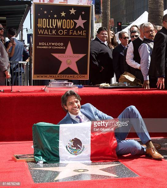 Actor Eugenio Derbez is honored with a star on The Hollywood Walk of Fame on March 10 2016 in Hollywood California