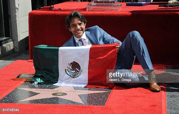Actor Eugenio Derbez is honored with a star on the Hollywood Walk of Fame held on March 10 2016 in Hollywood California