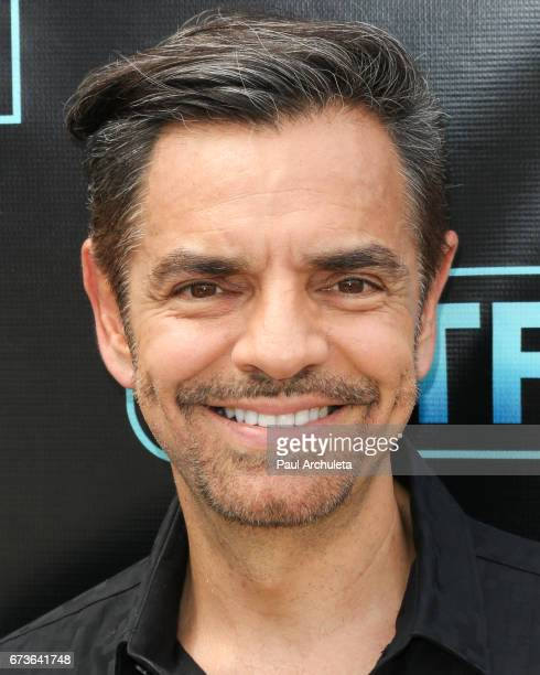 Actor Eugenio Derbez visits the set of 'Extra' at Universal Studios Hollywood on April 26 2017 in Universal City California
