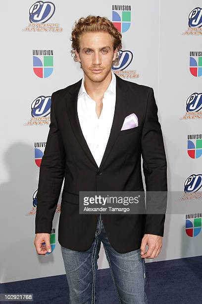 Actor Eugenio Siller attends the Univision Premios Juventud Awards at BankUnited Center on July 15 2010 in Miami Florida