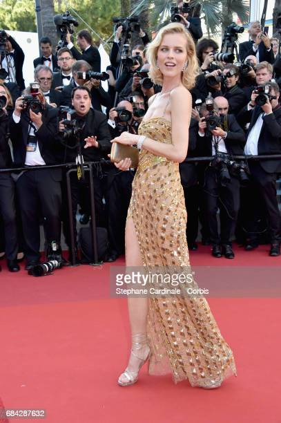 Actor Eva Herzigova attends the 'Ismael's Ghosts ' screening and Opening Gala during the 70th annual Cannes Film Festival at Palais des Festivals on...