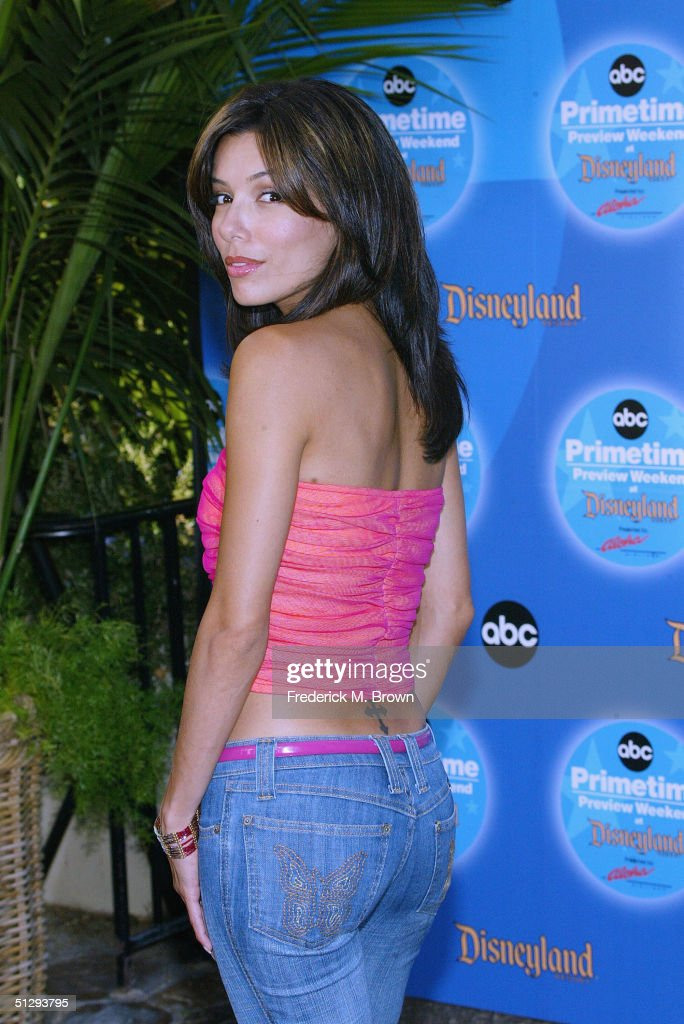 Actor <a gi-track='captionPersonalityLinkClicked' href=/galleries/search?phrase=Eva+Longoria&family=editorial&specificpeople=202082 ng-click='$event.stopPropagation()'>Eva Longoria</a> attends the ABC Primetime Preview Weekend 2004 at Disneyland on September 11, 2004 in Anaheim, California. (Photo by Frederick M. Brown/Getty Images).
