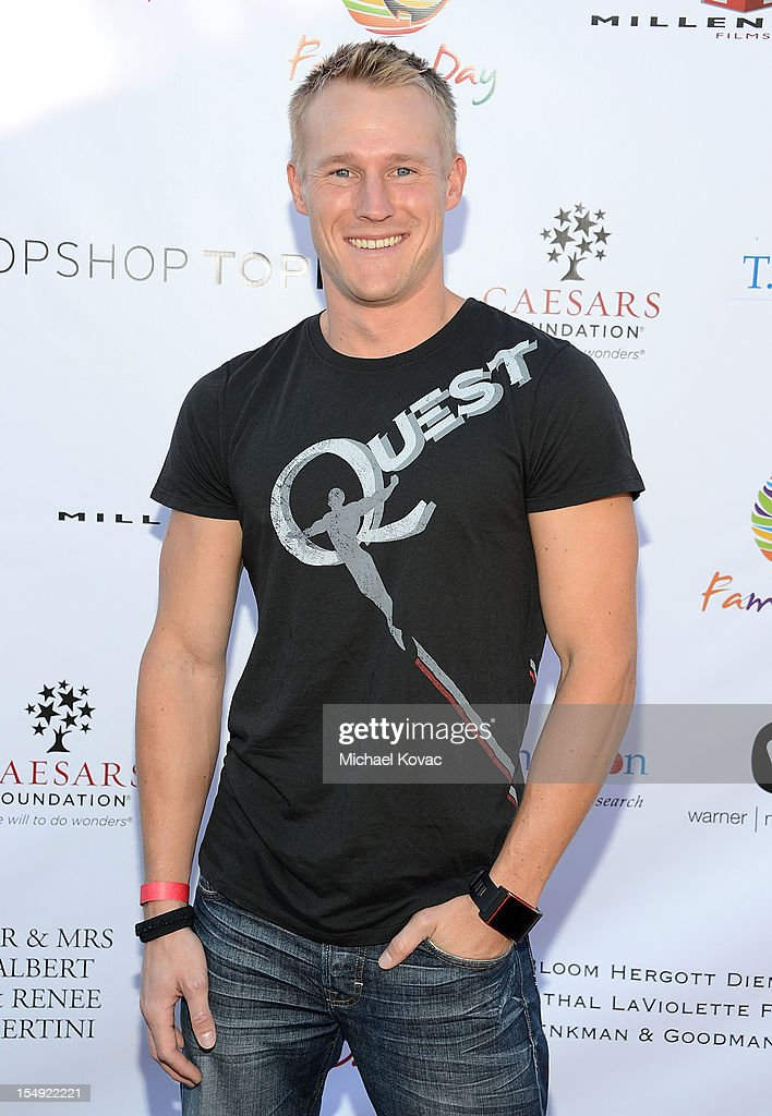 Actor Evan Dollard attends The T.J. Martell Foundation 4th Annual Family Day LA on October 28, 2012 in Los Angeles, California.