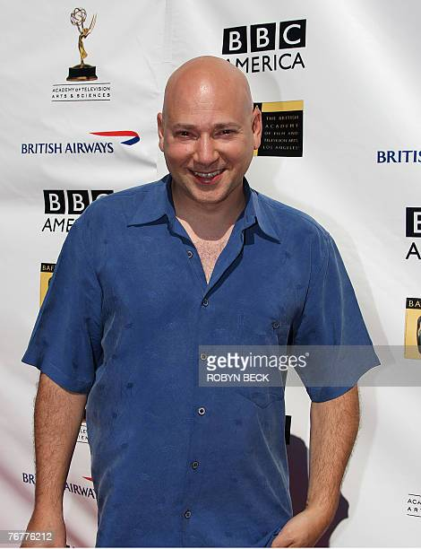 US actor Evan Handler arrives for a preEmmy Awards tea party hosted by the British Academy of Film Television Arts/Los Angeles and the Academy of...