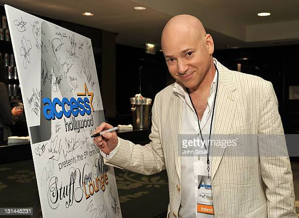 Actor Evan Handler attends the Access Hollywood 'Stuff You Must' Lounge produced by On 3 Productions at the Sofitel Hotel on January 14 2011 in Los...