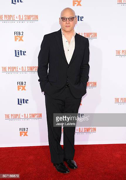 Actor Evan Handler attends the premiere of 'American Crime Story The People V OJ Simpson' at Westwood Village Theatre on January 27 2016 in Westwood...