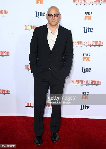 Actor Evan Handler attends the premiere of FX's 'American Crime Story The People V OJ Simpson' at Westwood Village Theatre on January 27 2016 in...