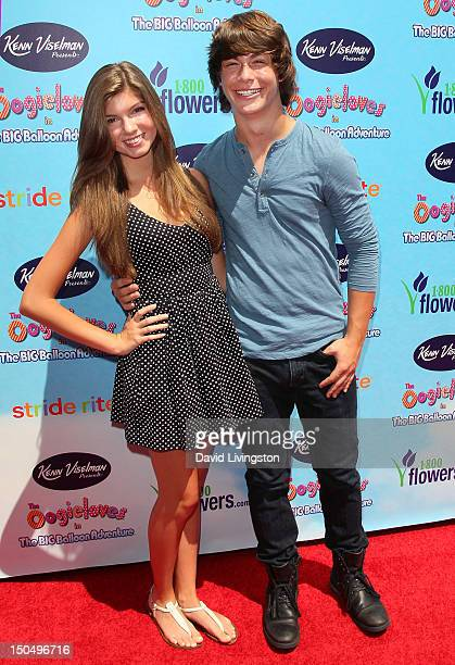 Actor Evan Hofer and Allegra Miller attend the premiere of 'The Oogieloves in the Big Balloon Adventure' at Grauman's Chinese Theatre on August 19...