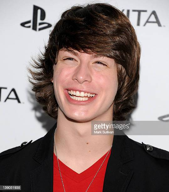 Actor Evan Hofer arrives at the launch party for the Sony Playstation PS VITA Portable Entertainment System at Siren Studios on February 15 2012 in...