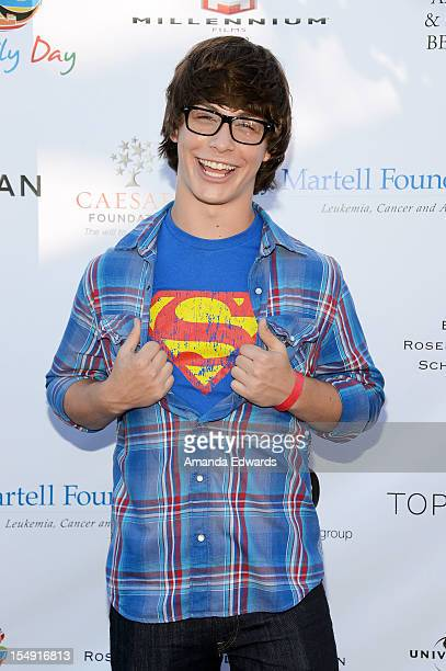 Actor Evan Hofer arrives at the TJ Martell Foundation 4th Annual Family Day LA at CBS Studios Radford on October 28 2012 in Studio City California