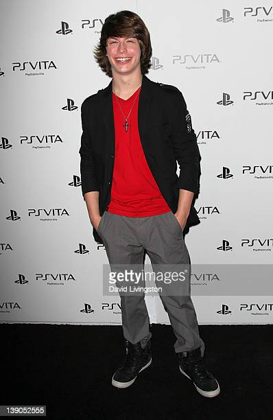 Actor Evan Hofer attends Sony PlayStation's unveiling of the PS VITA portable entertainment system at Siren Studios on February 15 2012 in Hollywood...
