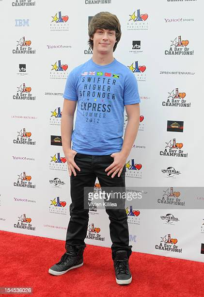 Actor Evan Hofer attends Yahoo Sports Presents 'A Day Of Champions' Benefiting The Bogart Pediatric Cancer Research Program Arrivals at Sports Museum...