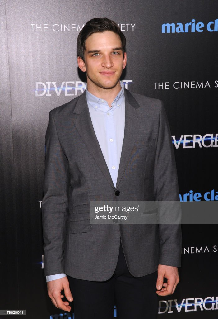Actor Evan Jonigkeit attends the Marie Claire & The Cinema Society screening of Summit Entertainment's 'Divergent' at Hearst Tower on March 20, 2014 in New York City.