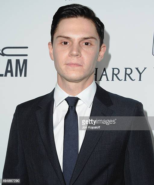 Actor Evan Peters arrives at amfAR's Inspiration Gala Los Angeles at Milk Studios on October 29 2015 in Hollywood California