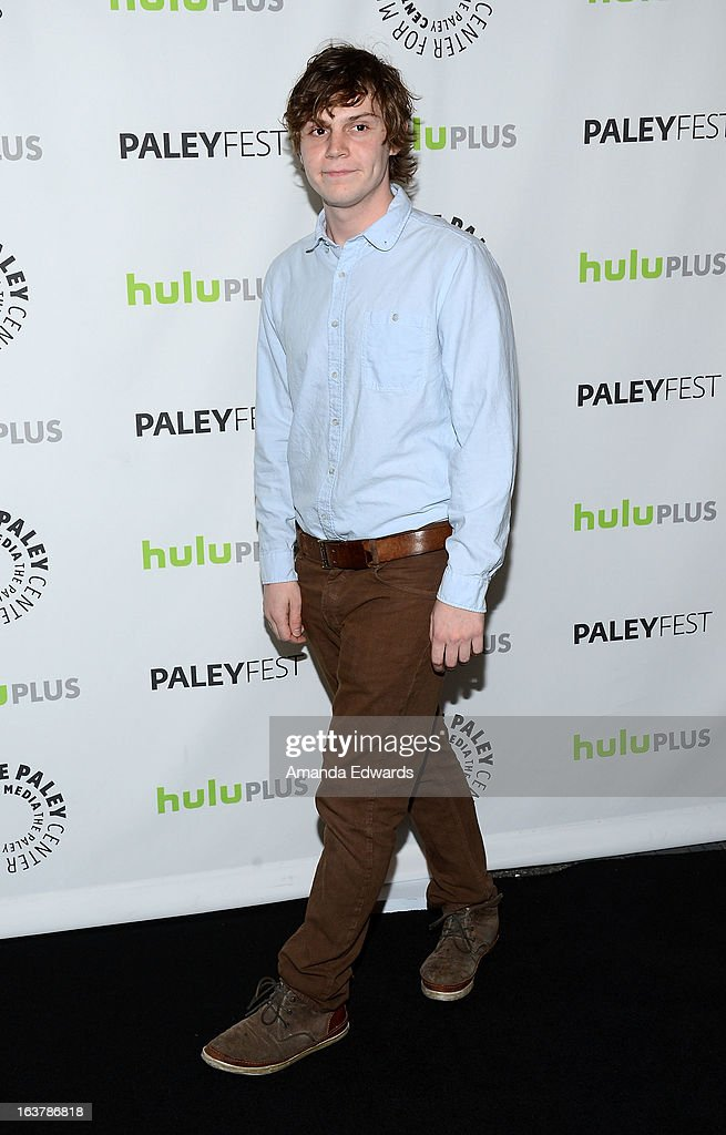Actor Evan Peters arrives at the 30th Annual PaleyFest: The William S. Paley Television Festival - Closing Night Presentation honoring 'American Horror Story' at the Saban Theatre on March 15, 2013 in Beverly Hills, California.