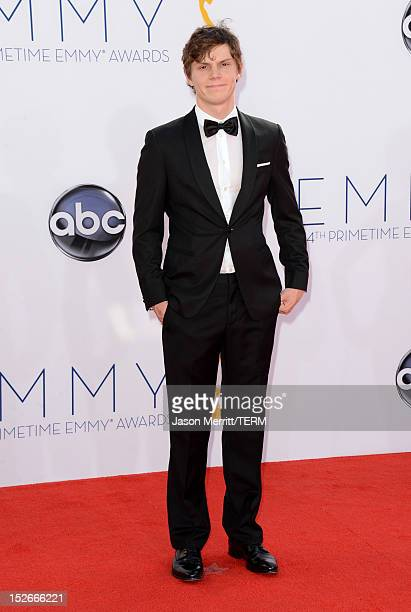 Actor Evan Peters arrives at the 64th Primetime Emmy Awards at Nokia Theatre LA Live on September 23 2012 in Los Angeles California